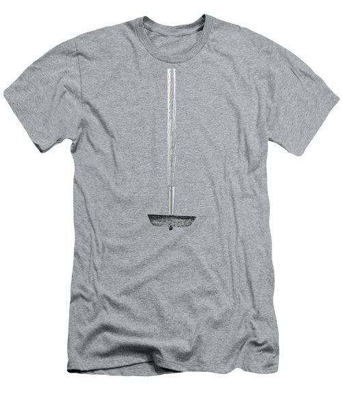 Tools On Wood 55 In Bw Men's T-Shirt (Athletic Fit)