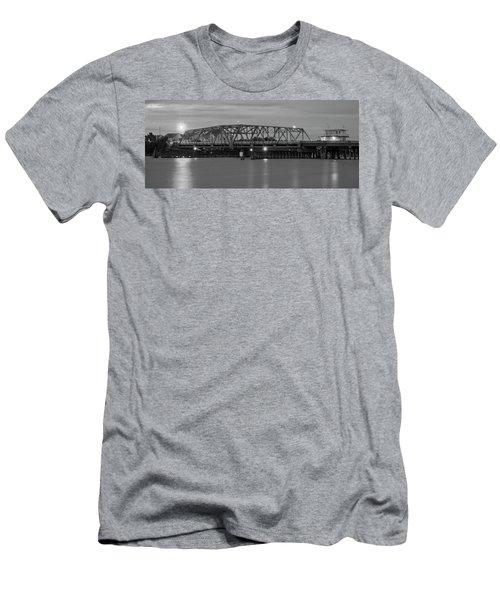 Topsail Island Bridge B  W Men's T-Shirt (Athletic Fit)