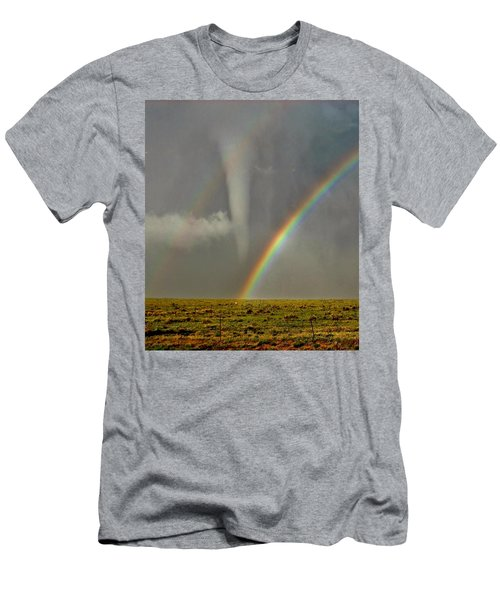 Tornado And The Rainbow II  Men's T-Shirt (Athletic Fit)