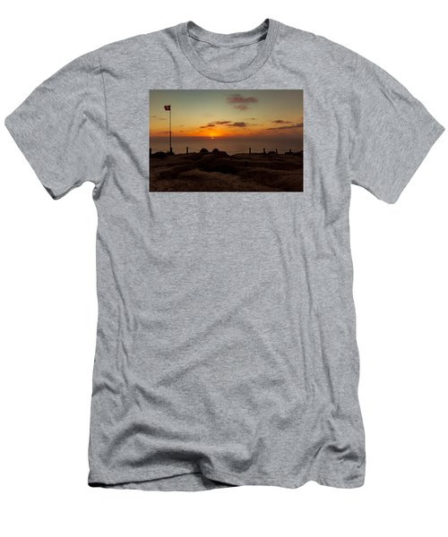 Men's T-Shirt (Slim Fit) featuring the photograph Torrey Pine Glider Port Sunset by Jeremy McKay