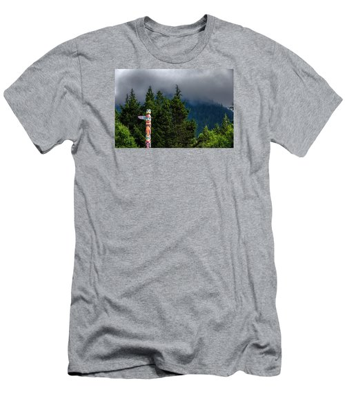 Men's T-Shirt (Slim Fit) featuring the photograph Totem Pole by Lewis Mann