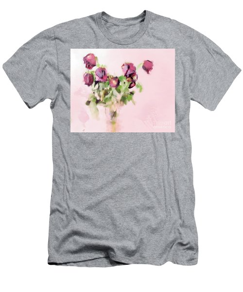 Men's T-Shirt (Slim Fit) featuring the mixed media Touchable by Betty LaRue