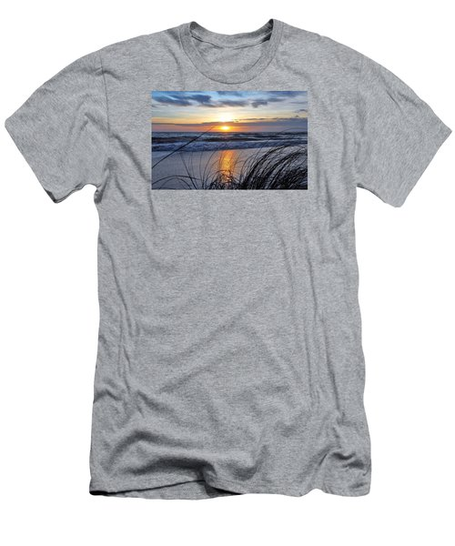Touching The Sunset Men's T-Shirt (Slim Fit) by Kicking Bear Productions