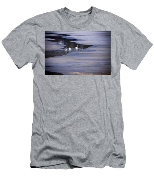Tourist Swans Men's T-Shirt (Athletic Fit)