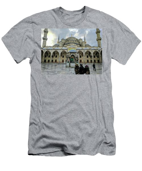 Tourists And The Blue Mosque Men's T-Shirt (Athletic Fit)