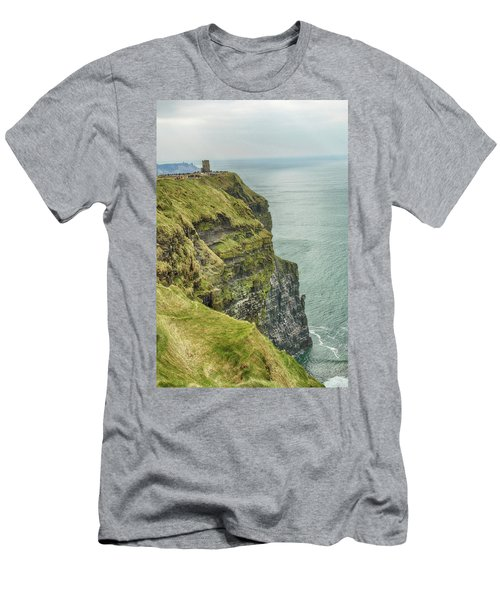 Tower At The Cliffs Of Moher Men's T-Shirt (Athletic Fit)