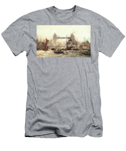 Tower Bridge From The Lower Pool Men's T-Shirt (Athletic Fit)