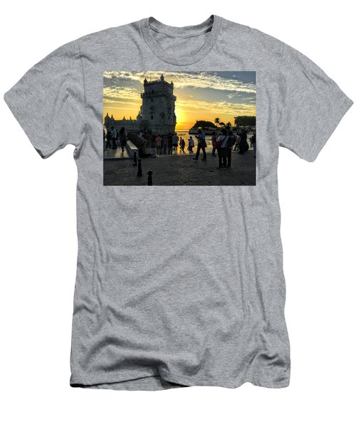 Tower Of Belem Men's T-Shirt (Athletic Fit)
