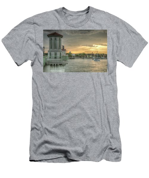 Tower Sunset Men's T-Shirt (Athletic Fit)