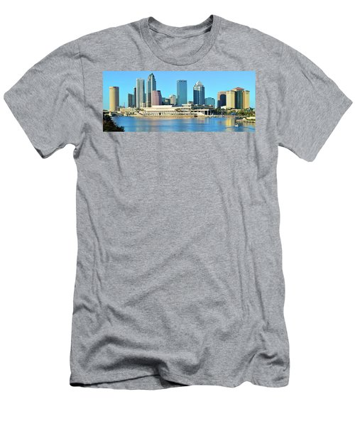 Men's T-Shirt (Slim Fit) featuring the photograph Towers By The Bay by Frozen in Time Fine Art Photography