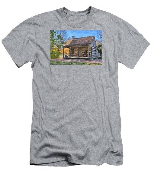 Town Creek Log Cabin In Fall Men's T-Shirt (Athletic Fit)