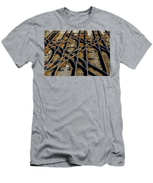 Tracks Of Abandon Men's T-Shirt (Slim Fit) by Michael Nowotny