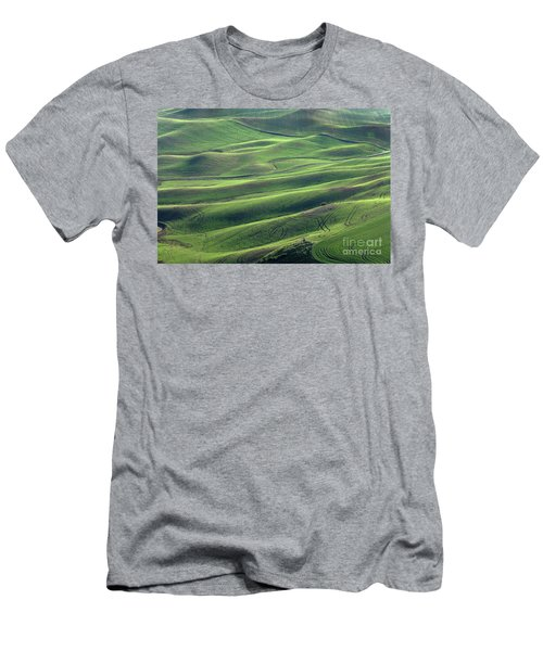 Tractor Tracks Agriculture Art By Kaylyn Franks Men's T-Shirt (Athletic Fit)