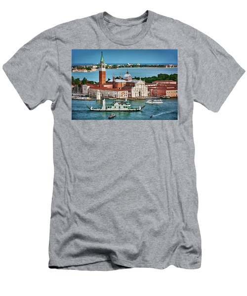 Traffic Around The Venetian Church Men's T-Shirt (Athletic Fit)