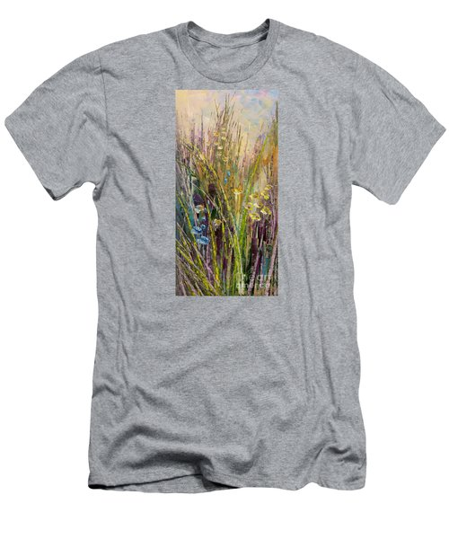 Men's T-Shirt (Slim Fit) featuring the painting Trail Of Beauty by Tatiana Iliina