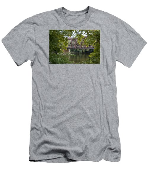 Train Trestle Men's T-Shirt (Slim Fit) by Michael Dorn