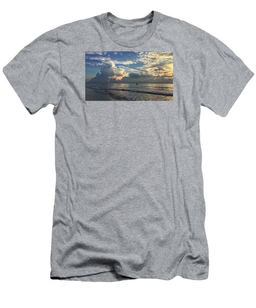 Tranquil Fisherman Men's T-Shirt (Slim Fit)