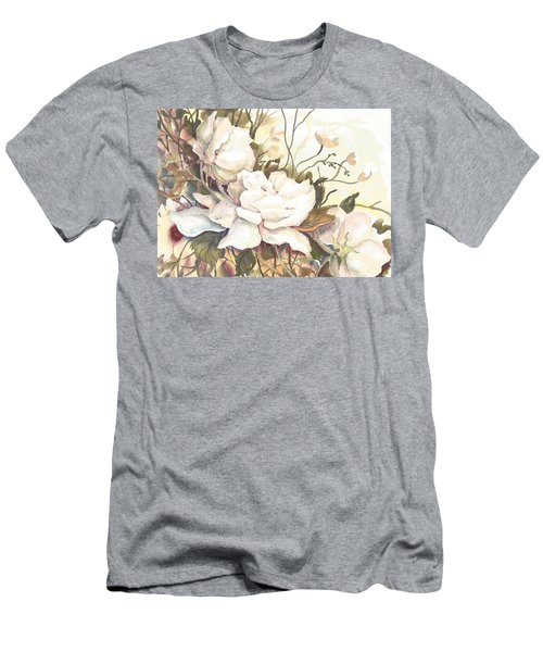 Tranquility Study In White Men's T-Shirt (Athletic Fit)
