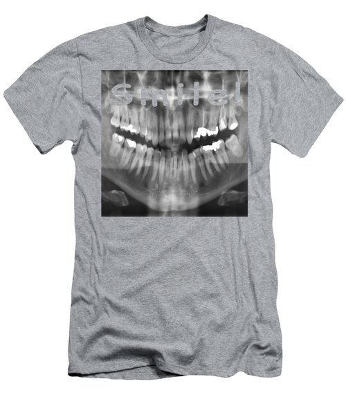 Transparent Panoramic Dental X-ray With A Smile Men's T-Shirt (Athletic Fit)