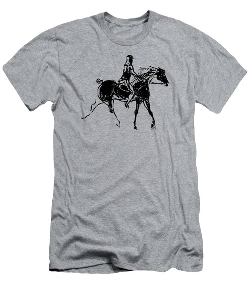 Men's T-Shirt (Slim Fit) featuring the drawing Traveler by Mary Armstrong