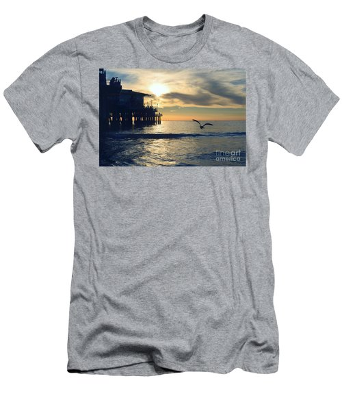 Seagull Pier Sunrise Seascape C1 Men's T-Shirt (Athletic Fit)