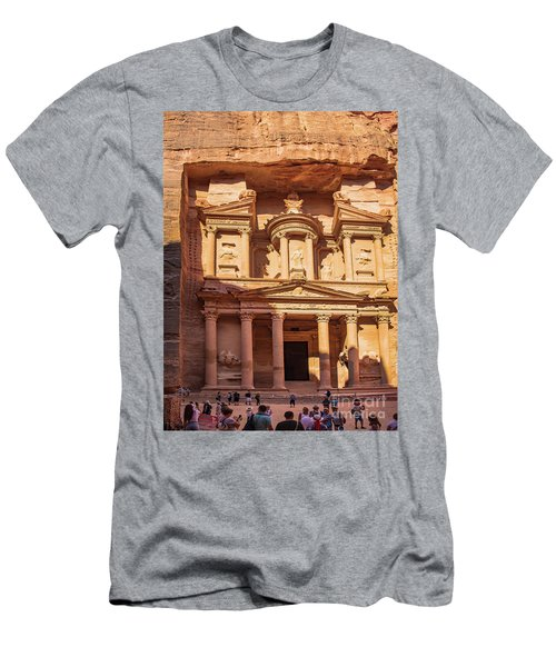 Men's T-Shirt (Athletic Fit) featuring the photograph Treasury Of Petra In Color by Mae Wertz