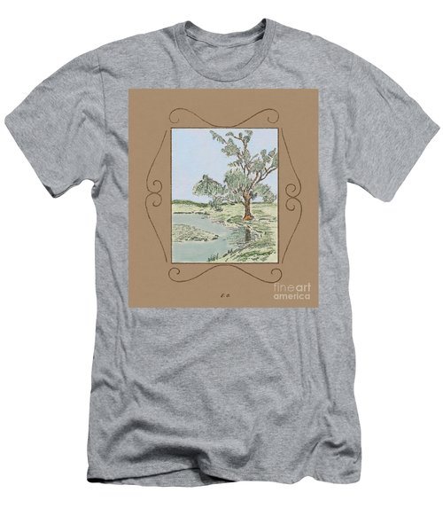 Tree Mirror In Lake Men's T-Shirt (Athletic Fit)