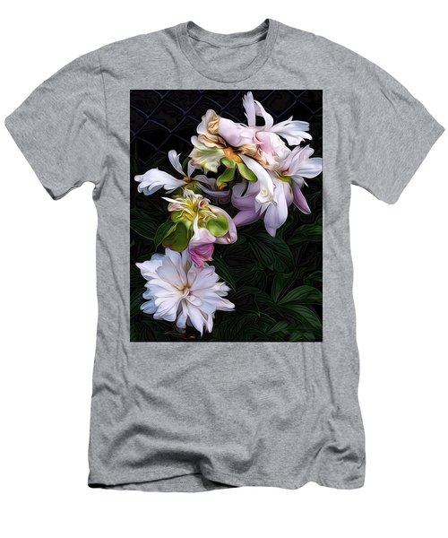 Men's T-Shirt (Slim Fit) featuring the digital art Tree Peony by Alexis Rotella