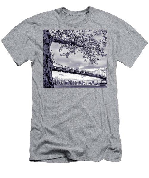 Tree With A Bridge Men's T-Shirt (Athletic Fit)