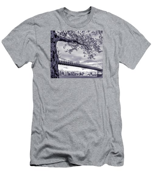 Tree With A Bridge Men's T-Shirt (Athletic Fit)