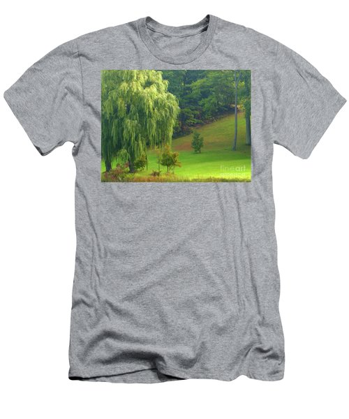 Trees Along Hill Men's T-Shirt (Athletic Fit)