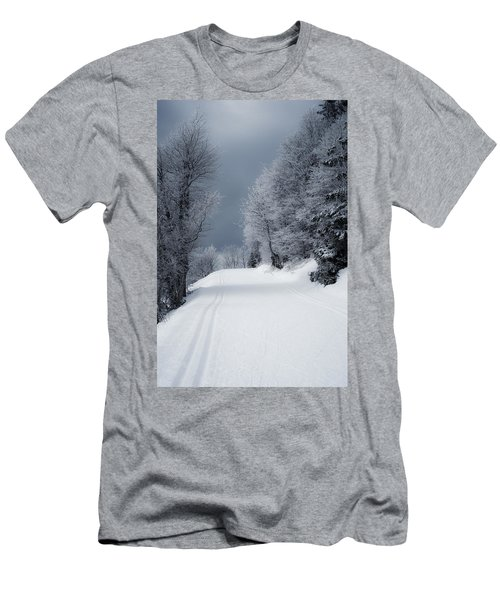 Trees Hills And Snow Men's T-Shirt (Athletic Fit)