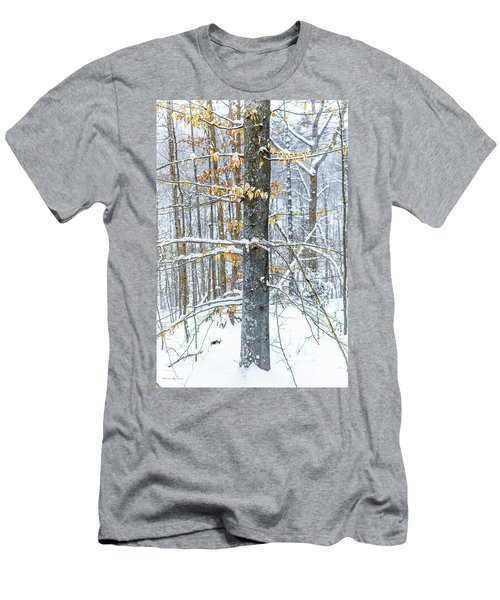 Trees In Snow Men's T-Shirt (Athletic Fit)