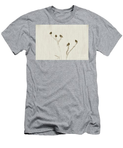 Treetop Starlings Men's T-Shirt (Athletic Fit)