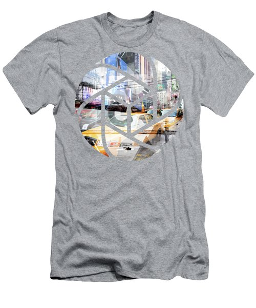 Trendy Design Nyc Geometric Mix No 9 Men's T-Shirt (Slim Fit) by Melanie Viola