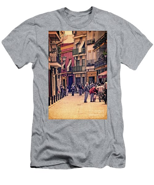 Men's T-Shirt (Slim Fit) featuring the photograph Triana On A Sunday Afternoon 2 by Mary Machare