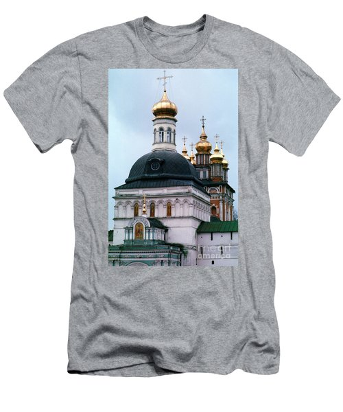 Trinity Lavra Of St. Sergius Monastery Sergiev Posad Men's T-Shirt (Slim Fit) by Wernher Krutein