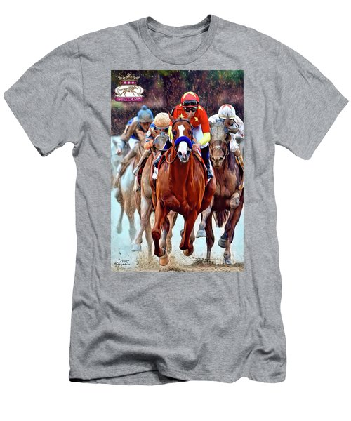 Triple Crown Winner Justify 2 Men's T-Shirt (Athletic Fit)