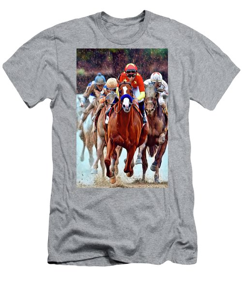 Triple Crown Winner Justify Men's T-Shirt (Athletic Fit)