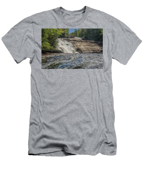 Men's T-Shirt (Slim Fit) featuring the photograph Triple Falls Second Tier by Steven Richardson