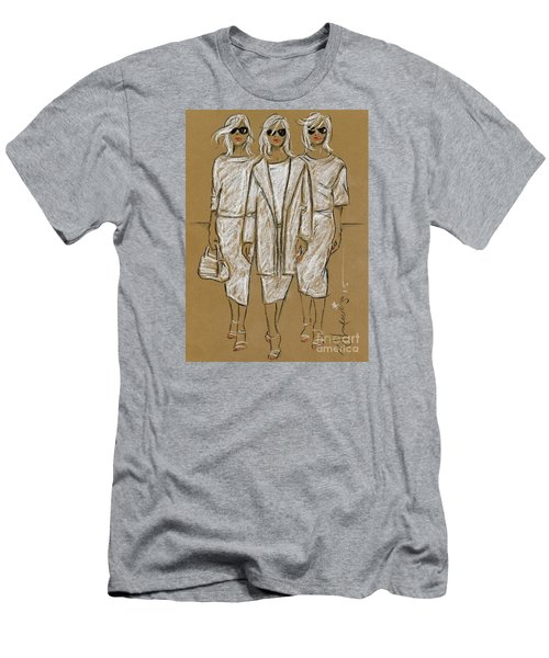 Triplets Men's T-Shirt (Slim Fit) by P J Lewis