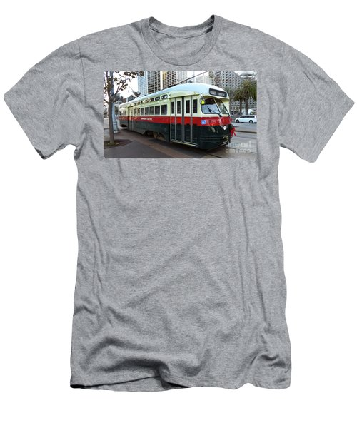 Men's T-Shirt (Slim Fit) featuring the photograph Trolley Number 1077 by Steven Spak