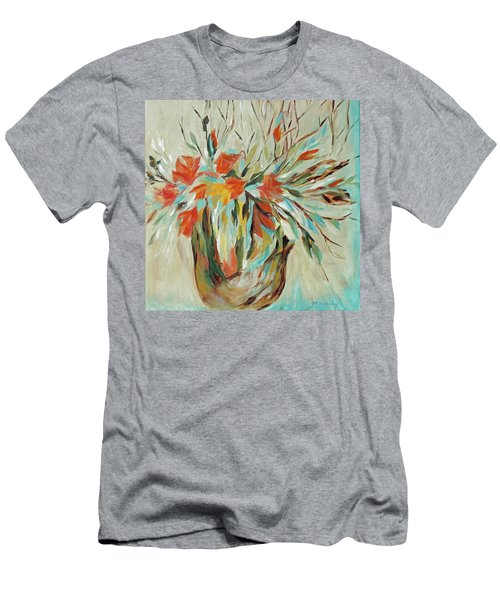 Men's T-Shirt (Slim Fit) featuring the painting Tropical Arrangement by Joanne Smoley