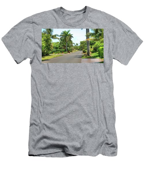 Tropical Feel Residential Street Men's T-Shirt (Athletic Fit)