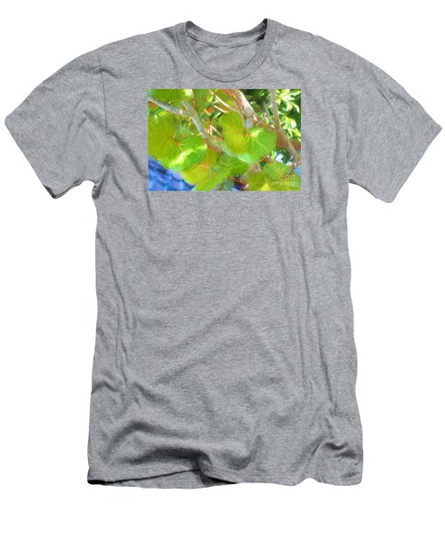 Tropical Leaves Men's T-Shirt (Slim Fit) by Linda Olsen