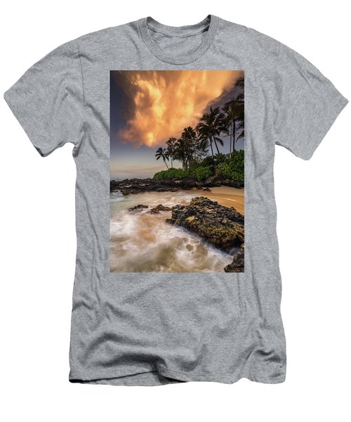 Tropical Nuclear Sunrise Men's T-Shirt (Athletic Fit)