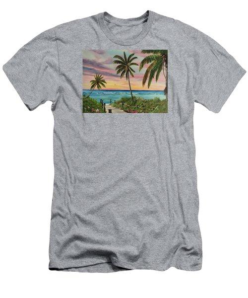 Tropical Paradise Men's T-Shirt (Athletic Fit)