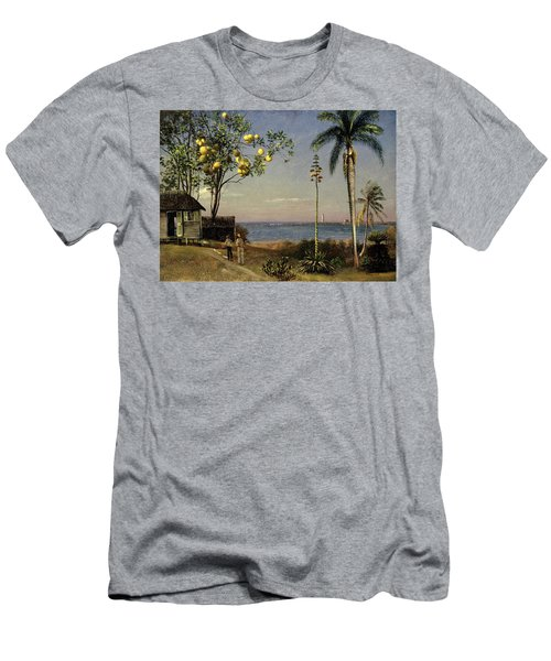 Tropical Scene Men's T-Shirt (Athletic Fit)