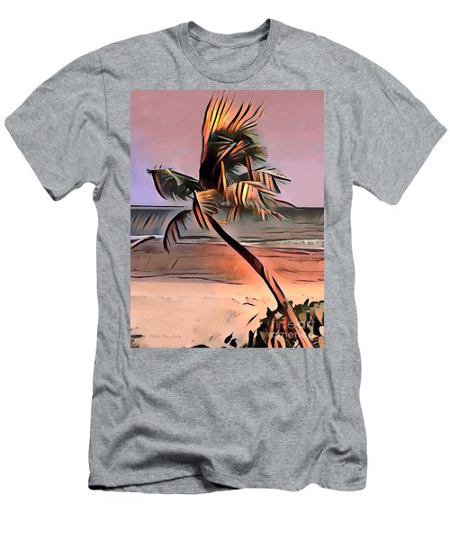 Tropical Seascape Digital Art E7717l Men's T-Shirt (Athletic Fit)