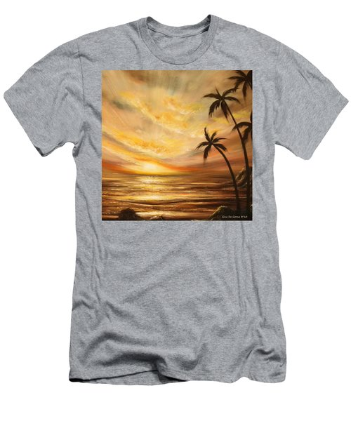 Tropical Sunset 64 Men's T-Shirt (Athletic Fit)